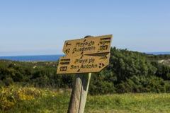 Strandsignalen in Asturias Stock Afbeeldingen