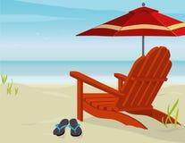 strandsikt royaltyfri illustrationer