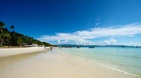 Strandsikt i Boracay Arkivbilder