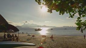 Strandsikt i Niteroi stock video