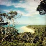 Strandsikt på den Portsea reserven, Australien Royaltyfri Foto