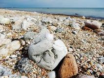 Strandsikt på det baltiska havet royaltyfri fotografi