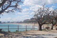 Strandsikt Tarragona Arkivbilder