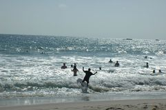strandsimning Arkivbild