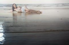 strandskönhet royaltyfri fotografi