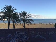 Strandskott Spanien Arkivfoto