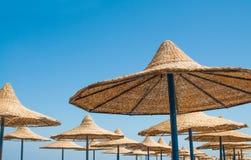 Strandslags solskydd Arkivfoton