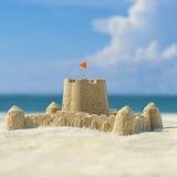 strandslott som göras sanden att skulptera form Arkivbilder