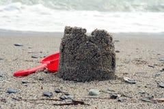 strandslott som göras sanden att skulptera form Fotografering för Bildbyråer