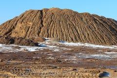strandslott som göras sanden att skulptera form Royaltyfri Bild