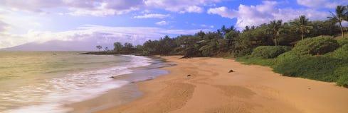 strandsolnedgång Fotografering för Bildbyråer