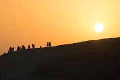 Strandsolnedgång, Dubai royaltyfri foto