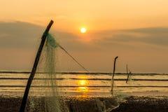 Strandsolnedgång för hav hav Royaltyfri Bild