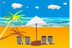 strandsolsken royaltyfri illustrationer