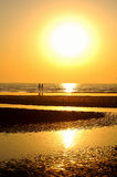 strandsoluppgång Royaltyfria Bilder