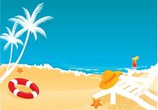 strandsommar Arkivbild