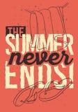 Strandsommardesign med Flip Flops Slippers Beach Shoes och den hängda drog linjen Art Illustrations för handduk hand stock illustrationer