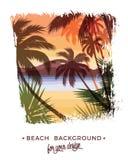 Strandsommer Hintergrund Stockfotos