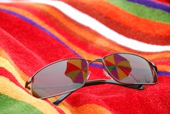 Strandsonnenbrillen Stockbild