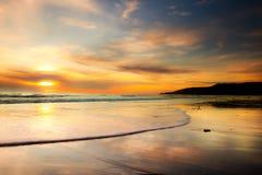 Strandsonnenuntergang Stockfotos