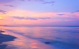 Strandsonnenuntergang Stockfoto