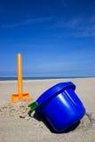 Strandspaten und -wanne Lizenzfreies Stockfoto