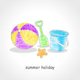 Strandspeelgoed royalty-vrije illustratie