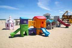 Strandspeelplaats Stock Foto's