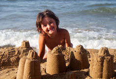 Strandspelen Stock Foto's