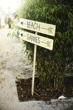 Strandspiel-Sommerspaß Lizenzfreies Stockfoto