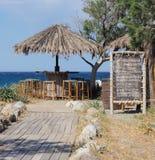 Strandstång: Komm in! royaltyfria foton