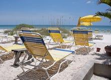 Strandstühle Stockbilder