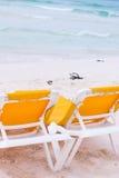 Strandstühle Lizenzfreie Stockfotografie
