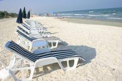 Strandstühle Stockfoto