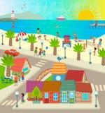 Strandstad Stock Afbeelding