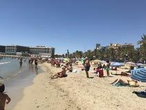 Strandstad Alicante Arkivfoto
