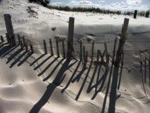 strandstaket arkivfoto