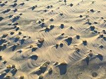 Strandsteine und -schatten schließen oben lizenzfreies stockbild