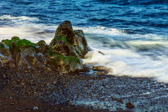 Strandstenen op Oceaan Abstracte Achtergrond Stock Afbeelding