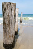 Strandstolpar Arkivbild