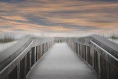 Strandstrandpromenad Arkivbild