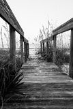 Strandstrandpromenad Royaltyfria Foton
