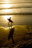 strandsurfare Royaltyfri Foto