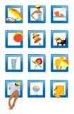 strandsymboler Fotografering för Bildbyråer