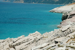 Strandszene in Albanien Lizenzfreie Stockfotos