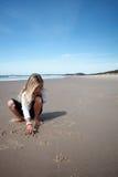 strandteckningar royaltyfria bilder