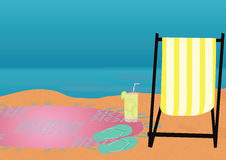 Strandtemabakgrund Arkivbild