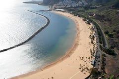 strandtenerife teresitas Arkivbilder