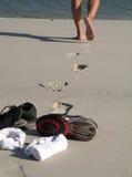 strandtennis Arkivfoto