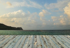 Strandterrasse stockfoto